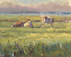 Cows in Morning Glory by Roos Schuring