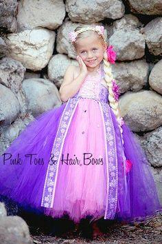 Traje de vestido de Rapunzel de Rapunzel Tutu por GlitterMeBaby                                                                                                                                                                                 Más