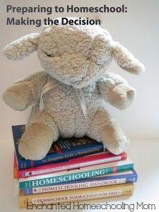Preparing to Homeschool: Making the Decision