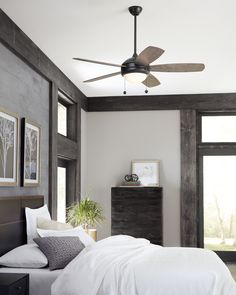 Our online catalogue has a fan for every room, no matter what your design taste is. Browse the full collection now and receive off your first order! Bedroom Sets, Home Decor Bedroom, Bedroom Prints, Bedroom Rustic, Dream Bedroom, Master Bedroom, Zen House, Small Bedroom Designs, Bedroom Floor Plans