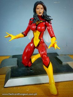 Another good thing about sharing a body with Satana is that you can perform the simple mod of replacing Marvel Legends Infinite Series Spider-Woman's head with Satana's. #MarvelLegends #SpiderWoman #JessicaDrew #Review #InfiniteSeries #ActionFigure #Toy