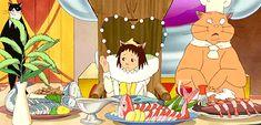 The food in anime will always be better than the food in real life. Hayao Miyazaki, Neko, Art Studio Ghibli, Nausicaa, Pom Poko, The Cat Returns, Film D'animation, Ghibli Movies, My Neighbor Totoro