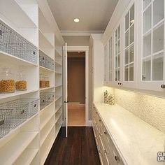 Butler's pantry - I think this is fantastic .... The only thing I would add is a stand up freezer where the photographer is standing.