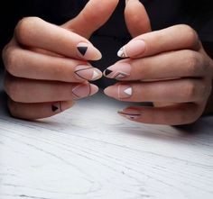66 Cute Matte Nail Art Designs Ideas Fashion matte nail design can be easily worn, interesting patterns and artistic masterpieces are created in a muddy tandem, trendy matte nails look great with foil and shine and go well with leading i. Nail Art Ombré, Shellac Nail Art, Matte Nail Art, Nail Art Hacks, Acrylic Nails, Oval Nails, Nude Nails, My Nails, Coffin Nails