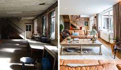 avant apres deco exotique pour cette maison renovee salon chambre et cour interieure