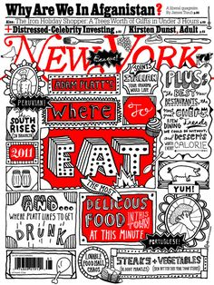 On the Creative Market Blog - 20 Gorgeous Hand-Drawn Magazine Covers