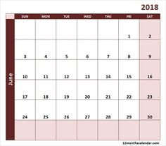 excel monthly calendar 2018