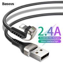 b90c100f9f Baseus Cable USB para iPhone Xs Max Xr X 2.4A U-en forma de
