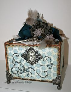Cigar box using DCWV Le Tres Chic Stack