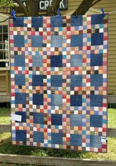 """Quilt - Denim 6.5"""" sq and 2.5"""" sq for patches"""