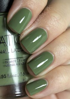 Sation Weed Out the Wimps is a faded sage green from the Little Horse on the Prairie Collection.  from The Nail Network