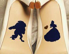 Beauty and the Beast Wedding Shoe Decals High Heel Decals