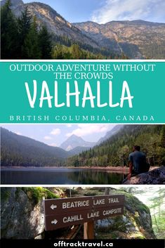 Looking for outdoor adventure in British Columbia but want to avoid the crowds? You need to go to Valhalla Provincial Park in the Slocan Valley! Oh The Places You'll Go, Places To Travel, Visit Canada, Canada Eh, Canadian Travel, British Columbia, Columbia Travel, Travel Posters, The Great Outdoors