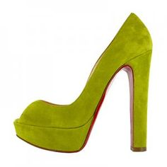 Christian Louboutin Bambou 140 Suede Peep Toe Pumps Green [CLA0674] - $119.35 : Designershoes-shopping, World collection of Top Designer high heel UP TO 90% OFF!