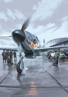 Fana de l'aviation (art Romain Hugault)