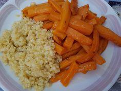 Light Recipes, Food Inspiration, Carrots, Buffet, Food And Drink, Vegan, Vegetables, Cooking, Bulgur