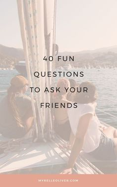 40 Fun Questions to Ask Your Friends Questions For Friends, Fun Questions To Ask, This Or That Questions, Do You Know Me, Getting To Know You, Best Blogs, Journal Prompts, Motivate Yourself, How To Start A Blog