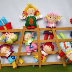 Little Counting Dolls fabric doll sewing pattern por dollytime