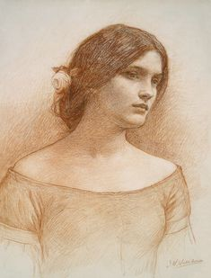 "waterhouse, study for ""the lady clare"""