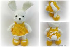 """Cheerful Spring Easter Bunny - free CROCHET pattern - """"easy"""" - don't u just luv the tail end"""