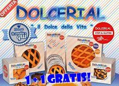 PROMO SENZA GLUTINE! 1+1 GRATIS! Acquistando un prodotto #Dolcerial senza glutine, ne avrete subito un altro in omaggio! I prodotti Dolcerial sono artigianali, senza conservanti nè coloranti!