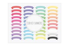 Check out Curved Banners by Maishop Digital Art on Creative Market