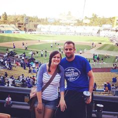 THINK BLUE: Happy Birthday to my beautiful wife. Throwback to September 28 2014 Dodgers-Rockies game. We'd been married for about 24 hours at the time. We often talk about going back to Cali but I'm not sure we'd ever come back if we did.  #happybirthday #wife by derkfor3