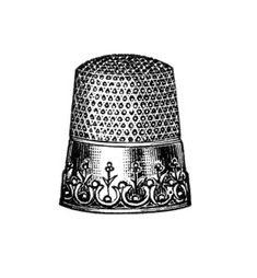 Free Vintage Images ~ Sewing Thimbles Clip Art (2 thimbles in blog post)