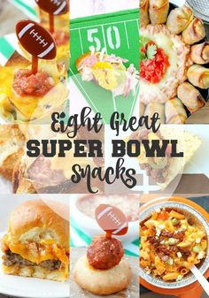 Both football and food fans will find something to please their palates in this collection of eight great super bowl snacks! Healthy Superbowl Snacks, Game Day Snacks, Tailgating Recipes, Tailgate Food, Game Day Food, Quick Snacks, Game Recipes, Vegan Snacks, Simple Snacks