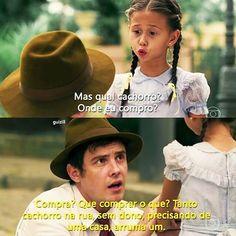 """""""Ele há de ficar agradecido pra sempre, vai amar o menino por demais."""" ❤ Essa novela sempre nos ensinando todos os dias! Não compre, adote! #SergioGuizé #NathaliaCosta #EtaMundoBom #ÊtaMundoBom #viralata #cachorro #viralatas #naocompre #naocompreadote"""