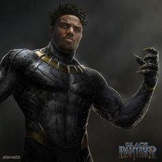 The Black Panther Movie's anti-revolutionary theme in the difference between Malcolm X and Martin Luther King reflected in Killmonger Marvel Villains, Marvel Vs, Marvel Characters, Black Panther Art, Black Panther Marvel, Best Superhero, Superhero Movies, Superhero Design, Andre Luis