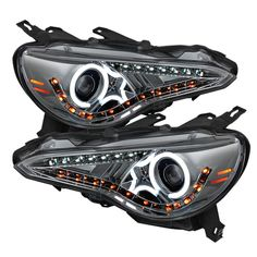 Spyder 2013-2014 Scion FR-S Projector Headlights CCFL Halo DRL LED Smoke - Set of 2 (PRO-YD-SFRS12-CCFL-SM)