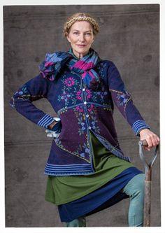 """""""Tuulikki"""" cardigan in eco-cotton GUDRUN SJÖDÉN – $178"""