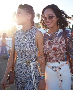 "d672063e7e17 Chloé on Instagram  ""A sense of  chloe sisterhood shared between   songofstyle and  camilacoelho at  Coachella  chloeGIRLS"""