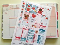 Free set of printable planner stickers for Valentine's Day and all your romantic / love events ! For classic Happy Planner and others. Pdf and silhouette cut files included.