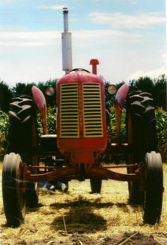 Vintage Rustic Red Tractor on Blank Photo Note by TheOldBarnDoor, $4.00