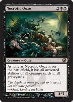Necrotic-Ooze-x4-Magic-the-Gathering-4x-Scars-of-Mirrodin-mtg-rare-card-lot