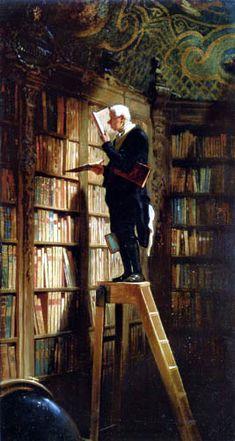 Carl Spitzweg, la Ciencia del pintor fácil.