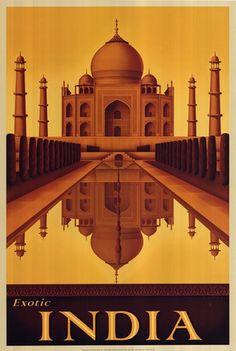 Art Deco + India + Taj Mahal
