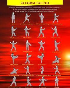 24 forma Tai Chi movimenti Manifesti   Etsy Martial Arts Techniques, Self Defense Techniques, Tai Chi For Beginners, Tai Chi Movements, Tai Chi Moves, Tai Chi Classes, Tai Chi Exercise, Tai Chi Qigong, Alternative Health