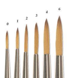 Winsor & Newton Cotman Water Colour Brushes - Series 111 - Sizes 1-6 -- $3-$5 -JerrysArtarama.com