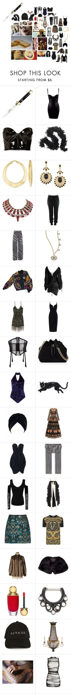 """rahzi"" by astral-leech ❤ liked on Polyvore featuring Topshop, Ross-Simons, Meira T, Hermès, Tom Ford, Haute Hippie, Zimmermann, FOLIES BY RENAUD, Karen Millen and Miss Selfridge"