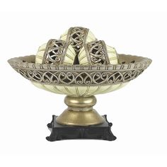 DD D'Lusso Designs Juliana Collection Four Piece Bowl with Three Orbs Set
