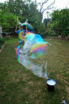 Giant Bubbles!!! How to make a giant bubble maker and recipes for bubbles| Familylicious