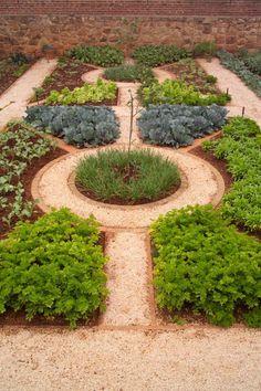 Herb Garden With Mulches And Walkway : Good Herb Garden Layout