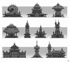ArtStation - Fantasy world buildings, Z PZ