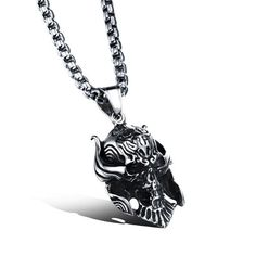 Man's domineering personal Skull pendant Punk necklace Trend boy's decorations