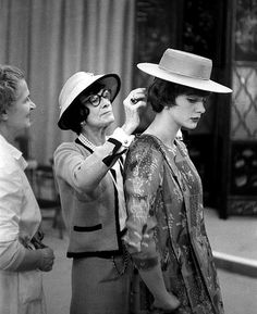 Coco Chanel and one of her models, 1959