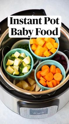 Apple Baby Food, Sweet Potato Baby Food, Baby Puree Recipes, Baby Food Recipes, Toddler Meals, Kids Meals, Toddler Food, Instant Pot Baby Food, Freezing Baby Food