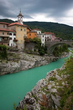 Triglav National Park, Slovenia by Stefanie Payne. The colour of the river is so beautiful